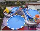 移动水上乐园 儿童戏水乐园 户外支架游泳池 充气水上闯关设备
