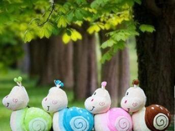 可爱小蜗牛公仔毛绒玩具玩偶布娃娃小蜗牛公仔小号创意多色可选