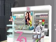 青岛展柜制作设计效果图美甲店装修美甲柜定做公司