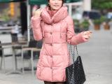 2013品牌新款可爱韩版时尚羽绒服女中长款修身女式羽绒服厂家批发