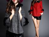 欧洲站2014秋冬新品欧美高端女装时尚大牌毛呢外套呢子大衣 Q1