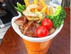 果汁饮料招商加盟 莎茵屋牛排杯饮料小吃一体加盟店