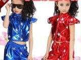 少儿街舞表演服饰儿童舞蹈演出服装现代女童男童爵士舞蹈服套装