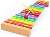 敲琴 彩色铝片 儿童音乐手敲琴玩具木制 铝片木琴