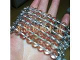DIY手工饰品配件 5A级天然白水晶半成品散珠批发(此款为纯净体