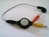 厂家供应电脑双耳耳机 单耳耳机 usb转接头 伸缩线