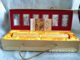 较新款收藏会销传世名画清明上河图丝绸画,带6枚*50克银砖