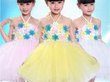 六一儿童舞蹈演出服装女童公主蓬蓬连衣裙现代亮片纱裙花童礼服