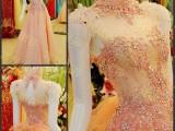 **奢华水晶礼服韩版韩式礼服新娘结婚敬酒礼服晚礼服xj08732