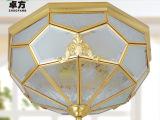 卓方灯饰 全铜手工吸顶灯饰 走廊过道阳台灯具 卧室书房焊锡灯