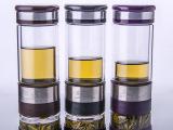 厂家批发创意礼品  双层玻璃杯 透明 茶水分离泡茶杯子 品味杯S