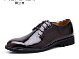 男鞋经典 英伦商务休闲皮鞋新款时尚透气系带正品真皮皮鞋男