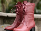 秋冬季女式鞋 欧洲站优雅高跟中筒女靴子