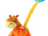 欧锐儿童奇趣欢乐推拉小马 宝宝音乐灯光学步玩具 安全无毒