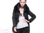 2013韩版冬装新款特价女款加大獭兔毛领中长款修身羽绒服女款正品
