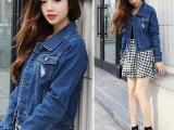 韩国正版2014春秋新款开衫牛仔女长袖上衣短款女式外套