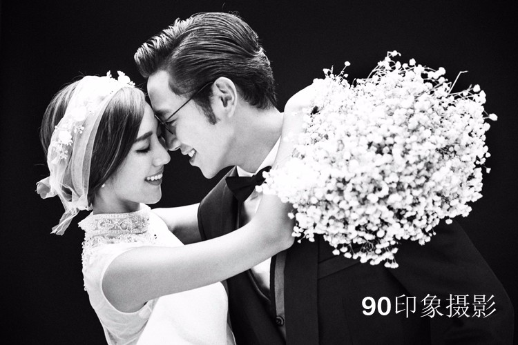 90印象摄影 单色婚纱照