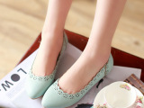 新款女装鞋批发 新款女鞋镂空平底单鞋 欧美高跟鞋5199