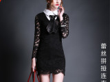 2015 夏季新款 高品质 欧美蕾丝连衣裙 厂家直销 女装代理加