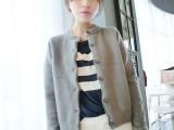 毛衣秋冬新款韩版加厚羊毛混绒短款羊绒开衫针织衫毛衣女式外套