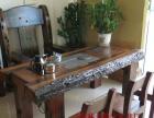 荆门实木家具办公桌茶桌椅子老船木客厅家具沙发茶几茶台餐桌案台