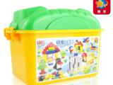 【惠美正品】儿童益智拼装积木玩具HM169 兼容乐高 桶装大颗粒