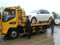 安阳汽修厂交警二手车交易专用一拖二清障车,带吊救援车拖车