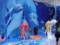 海洋展美人鱼出租,海豚美人鱼出租出售卡通模型