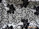 供应植绒玻璃纱,柯根纱,雪纱,欧根纱等面料