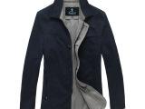 牧农(munong)男式休闲风衣中长款男装夹克型风衣外套风衣男批