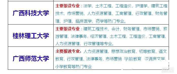 广西民族大学成人高考(函授大专本科)网上报名,送成考资料