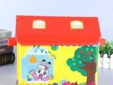 厂家定制衣物收纳盒 小房子收纳盒