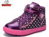 史努比童鞋 冬季新款加绒保暖女童板鞋 潮蕾丝花边公主鞋女童鞋