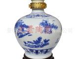 景德镇陶瓷酒瓶 定做批发陶瓷酒坛 5斤装青花球形 陶瓷酒瓶酒容器