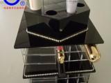 香港外贸360度手动旋转亚克力口红润唇膏收纳架 定制收纳盒