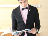 2014秋款新品男士小西服黑色时尚英伦外套男式礼服小西装厂家直销