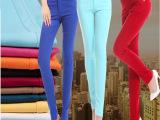 供应厂家直销糖果色小脚裤女式休闲裤 铅笔裤 女裤  糖果裤 80