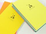 雅莎卡 创意韩国文具本子 我的小鹿缝线本32K彩色软面抄作业本