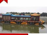 大型观光龙船 电动旅游观光画舫木船 手工定制餐饮茶艺景观木船
