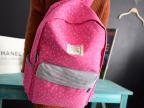 厂家直销批发2015款热销韩版帆布小雪花女学生书包双肩背包定制