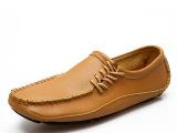 新品发布 英伦潮流男士豆豆鞋船鞋 时尚男士真皮高档款休闲男鞋