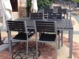 雅亭戶外家具供應YT-3300露臺塑木桌椅金屬戶外家具