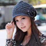 批发秋冬季毛茸球可爱韩版毛线帽女帽套头帽针织帽2013年爆款帽子