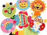 幼儿园手工自制纸盘动物材料包儿童diy制