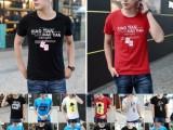 西藏拉萨哪里有便宜促销热卖男式T恤批发厂家尾货5元T恤批发