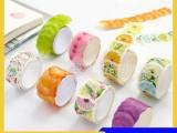 厂家定樱花制和纸胶带 彩色单片花瓣贴纸 日记本手账diy装饰