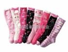 广东袜子加工厂批发订做可爱儿童袜 长筒儿童袜 保暖儿童袜