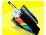 多功能高档款:手机座,带便签,五彩条,配笔孔可插笔,底座防滑