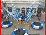 商用儿童单人蹦蹦床 广场公园弹跳床 游乐场弹簧款电动折叠蹦极