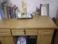 有想买写字台的亲吗?九成新实木自用写字台,刚买两个